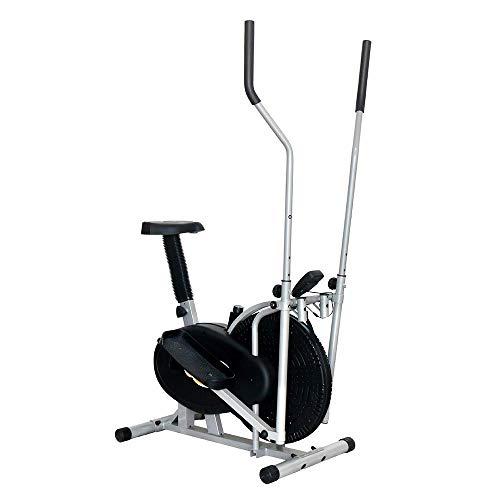 DSHUJC Entrenador de máquina elíptica de Interior Paso a Paso Equipo de Ejercicio Compacto Life Fitness para oficinas domésticas (Color: Negro, Tamaño: 91x50.5x152.5cm