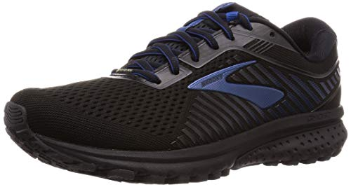 Brooks Ghost 12 GTX, Zapatillas de Running para Hombre, Negro (Black/Ebony/Blue 064), 43 EU