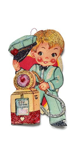 Valentine's Day Card Ornament Decoration Gas Station Boy Retro Handmade Holiday Gift