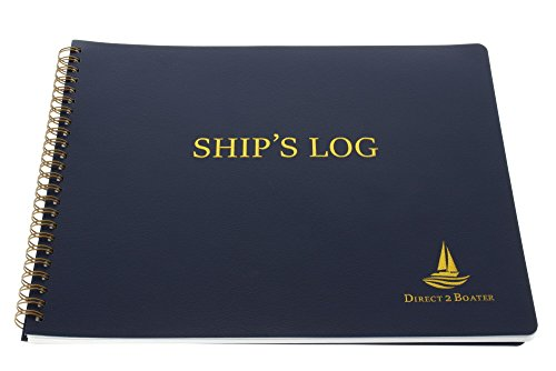 Ship's Log Book - Spiral Bound Book - Ideal Boat Journal, Boater Gift