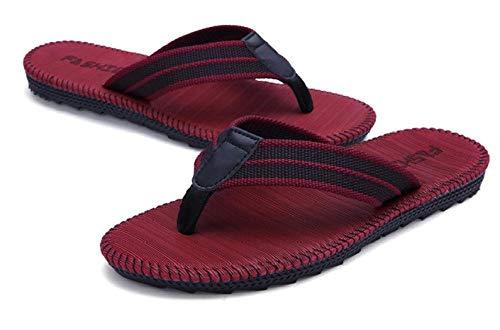 MedusaABCZeus Zapatos de Playa de Baño,Chanclas para Hombre Zapatos Antideslizantes de Playa Pinch-Red_45,Piscina Sanitarios Sandalias Verano
