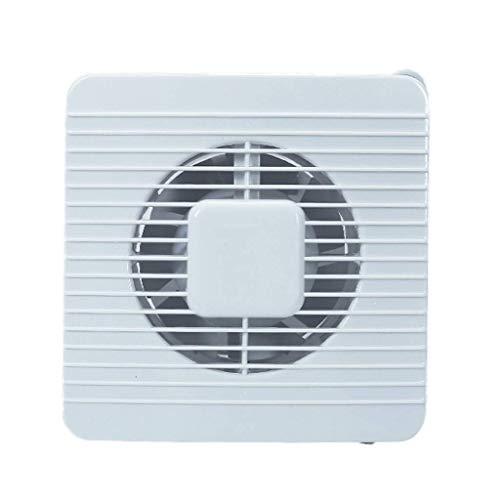 Extractor De Aire, Extractor Cocina Ventilador de escape del baño, ventilador de ventanas ventilador de escape ventilador de ventilación con válvula de retención de malla, 7 pulgadas, ultrafino, fuert