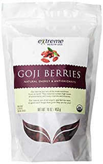 Extreme Health Organic, Wild Tibetan Goji Berries, 16-Ounce Bag (Pack of 2) (B001E5DYM6) | Amazon price tracker / tracking, Amazon price history charts, Amazon price watches, Amazon price drop alerts