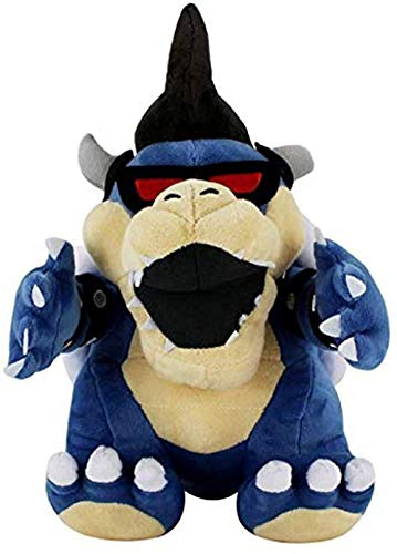 N/D Super Mario Bros Blue Koopa Soft Plush Dolls 3D Land Bone Kuba Dragon Dark Dry Bones Bowser Plush Toy 29Cm