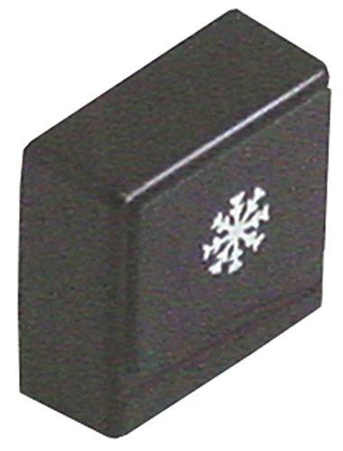 Colged drukknop voor vaatwasser 45, 40, 46, 35 zwart symbool naspoeling afmeting 23 x 23 mm grootte 23 x 23 mm