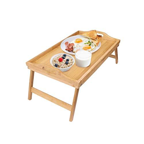 Folding table tu klaptafel eettafel maantafel bamboe vouwen kan bed computer bureau verplaatsen