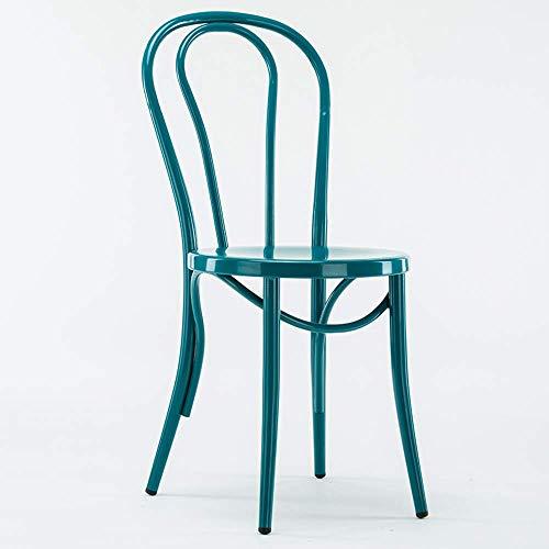Haushaltsprodukte Lounge Bar Stuhl Moderner Hoch Bar Stuhl Schmiedeeisen Barhocker Cafe Front Bar Tisch Stuhl (Farbe: Rot)