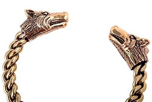 WINDALF Vikings Herren Armreif STARK Ø 6.5 cm Wikinger Asatru Schmuck Handarbeit aus hochwertiger Bronze