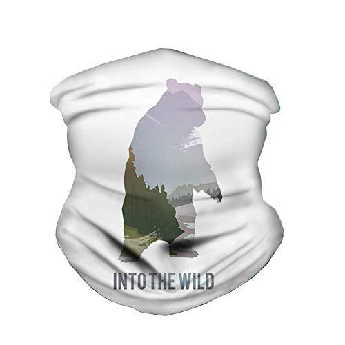Gjid Wild Animals of Canada Survival Winddichte Maske Bandanas für Outdoor-Festivals Sport