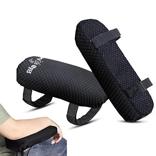 Big Ant Stuhl Armlehnen Polster, Memory Foam Armlehnen Bezüge Ergonomisch für Ellbogen und Unterarm Anti-Rutsch Unterseite, Abnehmbare Stuhl Armlehne Pad für Bürostühle und Rollstuhl - 2 Stück