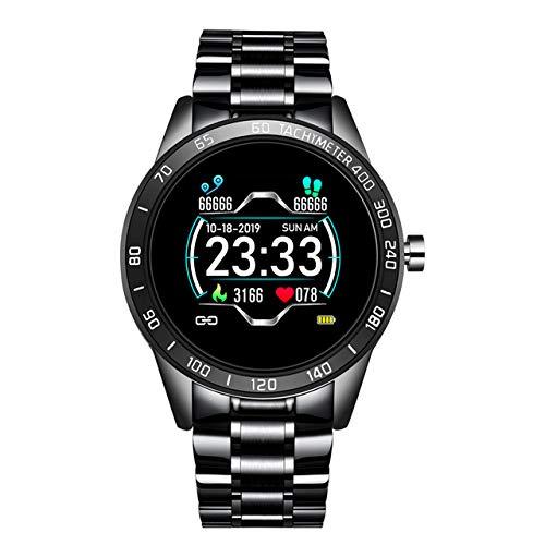 LLM Banda De Acero Reloj Inteligente Ritmo Cardíaco para Hombres Monitor De Presión Arterial Deportes Modo Multifunción Modo Fitness Tracker Waterproof Smart Watch para Android iOS,C