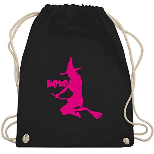 Shirtracer Halloween - Hexe auf dem Besen - Unisize - Schwarz - hexen accessoires - WM110 - Turnbeutel und Stoffbeutel aus Baumwolle