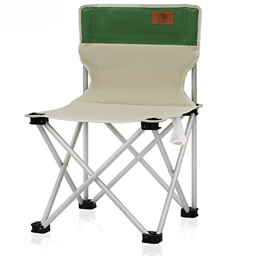 JQXB Outdoor Unisex's Camping Portable Chair, Folding Heavy Duty Luxury Padded with High Back, For Superior Comfort,Green