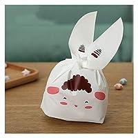 YVCHEN キャンディビスケットスナックベーキングパッケージウェディング誕生日の装飾のための100pcsかわいいウサギの耳クッキーバッグギフトバッグ (Color : Sheep ears, Size : 10x17cm(5.5cm))