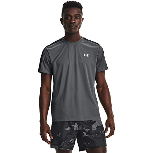 Under Armour Camiseta para Hombre Speed Stride, Hombre, Camiseta, 1361479-012, Gris Pitch...