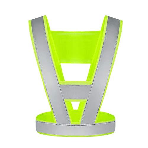Veiligheidsvest Fluorescerende Kleding Reflecterende Veiligheid Vest Werkkleding Verstelbare Nacht Hoge Zichtbaarheid Hardlopen Politie Road Waarschuwing Outdoor veiligheid Reflecterende Vest Groen