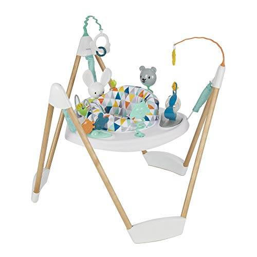 Evenflo Exersaucer Wood Frame Jumper, Woodland Wonder