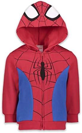 Marvel Spiderman Venom Spiderverse Boys Fleece Zip up Costume Hoodie White product image