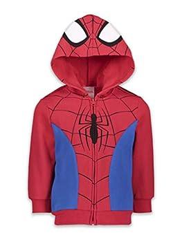 Marvel Spiderman Venom Spiderverse Boys Fleece Zip-up Costume Hoodie White