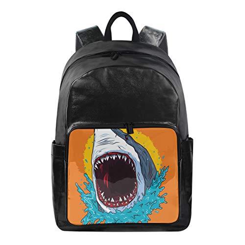 Funnyy Mochila de Dibujos Animados con diseño de tiburón y Boca, Bolsa de Hombro para Senderismo, Camping, Escuela, Viajes, Bolsa de computadora para niños, niñas, Hombres, Mujeres