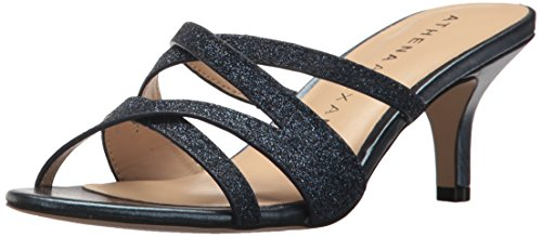 Athena Alexander Women's Starlight Heeled Sandal, Navy, 7 M US