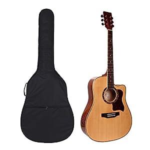 41″ Gitarrentasche,Gitarre Taschen Guitar Gig Bag Für Akustikgitarre und Klassikgitarren Rucksack Design Gitarrenzubehör