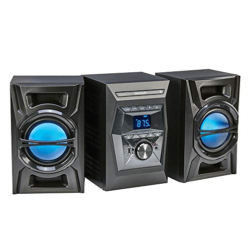 Blackweb 100w Bluetooth Cd Stereo System With Led Lighting Effects Black Brickseek