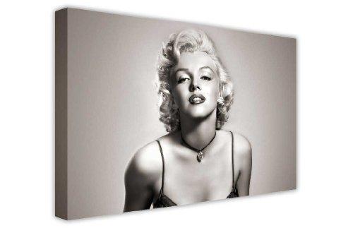 CANVAS IT UP Iconic Marilyn Monroe schwarz und weiß Leinwanddruck, New Age Kunstdruck–Foto Bild tolle Deko für Zuhause