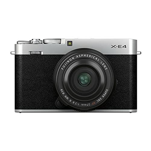 Fujifilm X-E4 Kit con Objetivo FUJINON XF27mm f2.8 R WR, Color Plateado