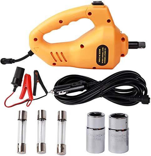 J-Conel Elektrischer Schlagschrauber 12V DC Autoschlüssel Elektrischer Schraubendreher, Schlagschrauber 1/2 Zoll Reparaturwerkzeug zum Reifenwechsel für Autos SUV
