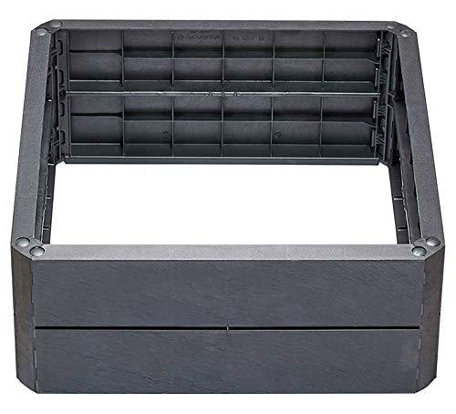 Yerd Hochbeet Baukasten-System: Ergo Quadro L 80x80 Hochbeet-System, Farbe Stone