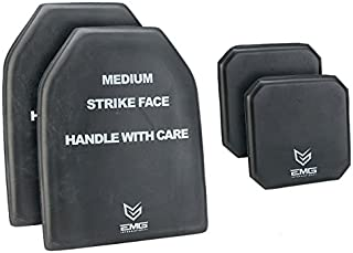 EMG Tactical Dummy Training SAPI Plate Foam Insert with Side Plates Size Medium (Set of Four)