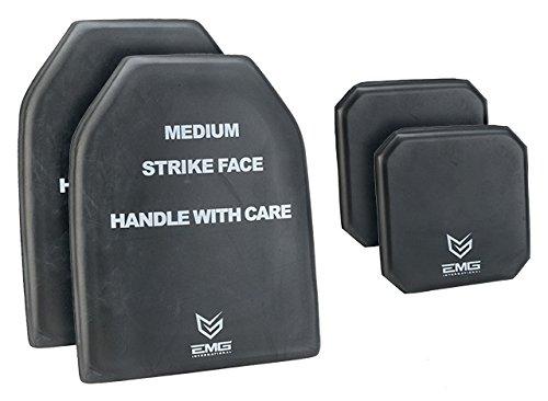EMG Tactical Dummy Training SAPI Plate Foam Insert with Side Plates Size Medium (Set of Four)