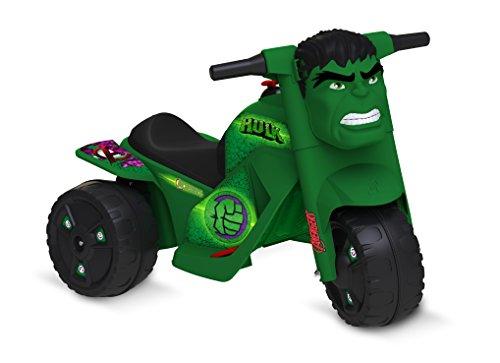 Moto Hulk Elétrica 6V Avengers Bandeirante Verde