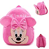 Cat Toddler Kids Backpacks Cute Plush Little Baby Girls Boys Cartoon Animal Backpacks for 1-3Y(pink Mini)