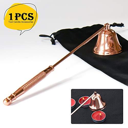 Linhbo Candle Snuffer, Glockenform Candle Snuffer aus Edelstahl mit einer Bundle-Tasche für die Kerzenliebhaber
