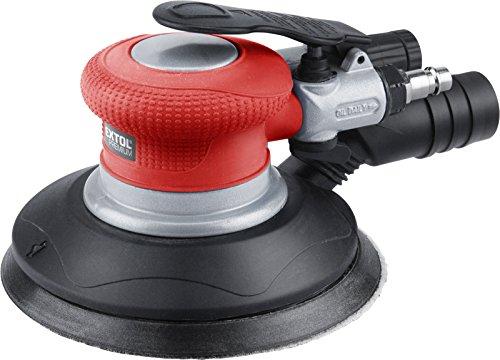 Extol Premium Impresión Aire de oscilación lijadora excéntrica (150mm, velocidad 10500/min, acoplamiento 1/4pulgadas, 1pieza, rojo, 8865038