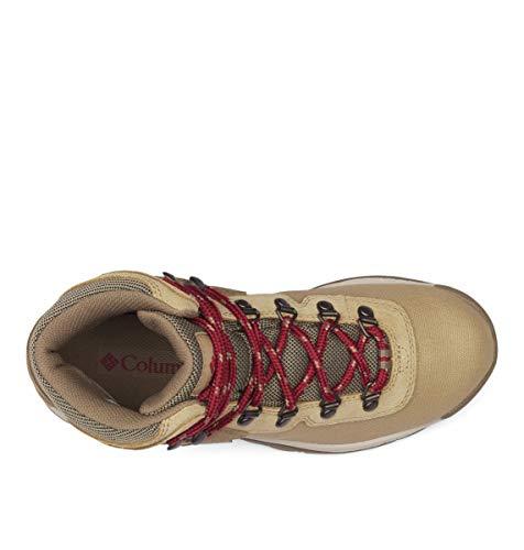 Columbia Women's Newton Ridge Lightweight Waterproof Shoe Hiking Boot, Beach/Marsala red, 9