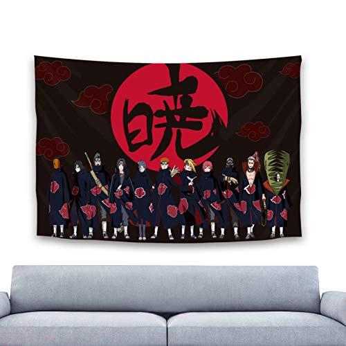 Naruto tapiz colgante de pared Anime Manga tapiz manta para decoraciones de fiesta decoración de dormitorio 60x40in