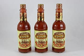 Louisiana Gold Red Pepper Sauce with Tabasco Peppers 5 fl. oz. (Pack of 3)
