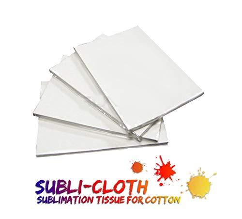 Subli-Cloth Sublimación sobre Algodón Tela para sublimar – Paquete x 20 Hojas A4.