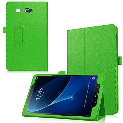 QiuKui Tab Funda para Samsung Galaxy Tab A A6 7.0 2016 SM-T280 T285, Estuche magnético para Smart PU Cuero Auto-Sleep Funda para Samsung SM-T280 T285 (Color : Verde)