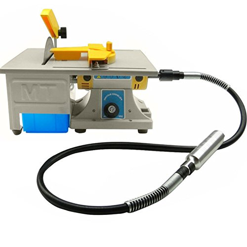 Jewelry Polishing Machine,Finlon Gem Rock Stone Buffer Bench Lathe & Polisher Machine Set - 110V
