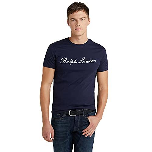 Polo Ralph Lauren Camiseta Stretch Cotton para Hombre (XL, Cruise Navy)