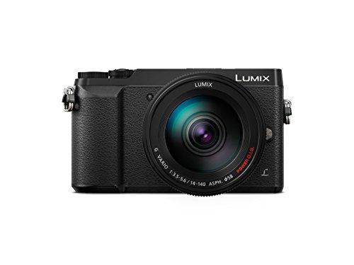 """Panasonic Lumix DMC-GX80H - Cámara EVIL de 16 MP, Pantalla de 3"""", Estabilizador Óptico de 5 Ejes, RAW, Wi-Fi, 4K, Kit con Objetivo Lumix Vario 14 - 140 mm/F3.5-5.6, Color Negro"""