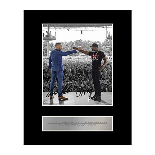 Conor McGregor y Floyd Mayweather firmado foto enmarcada