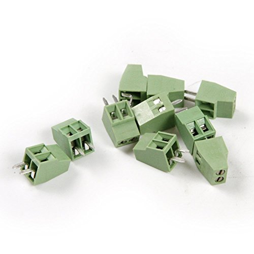 30 Stück 2,54 mm Pitch PCB Mount Screw Terminal Block Connector