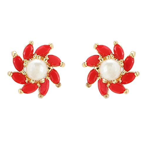 Efulgenz Indian Bollywood Designer 18 k Gold Plated Traditional CZ Stud Earrings Jewelry for Women and Girls Gift for Her Multicolor