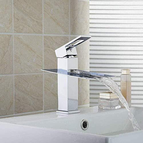 Grifos de cocina Grifos de bidé Grifos de lavabo Cascada de alta calidad Baño Latón cromado Montado en cubierta Grifos de lavabo de una manija Mezcladores y grifos Grifo para baño