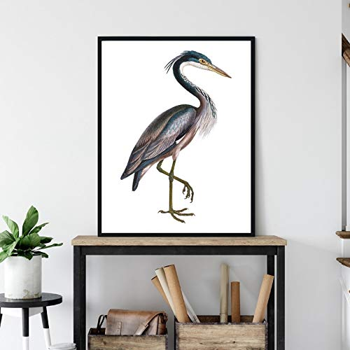 Frameloze zwarte kop print vintage vogel muur canvas dier poster woonkamer decoratie schilderij muur foto <> 40x60cm